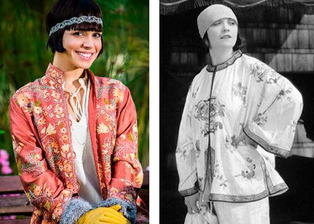 Tempo de Amar moda anos 20