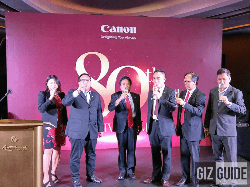 Canon Marketing Philippines proposes a toast for their 80th year!