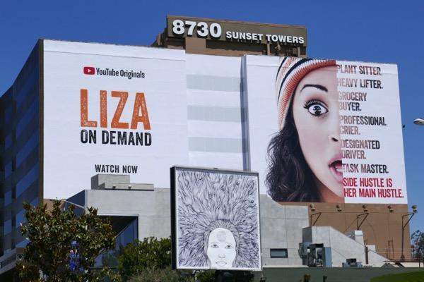 Liza On Demand YouTube billboard