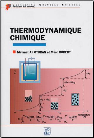 Livre : Thermodynamique chimique - Mehmet-Ali Oturan, EDP Sciences 1997