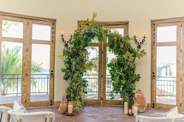 Greenery arch wedding cabo san lucas destination weddings florist designers