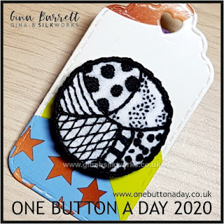 One Button a Day 2020 by Gina Barrett - Day 163 : Doodle