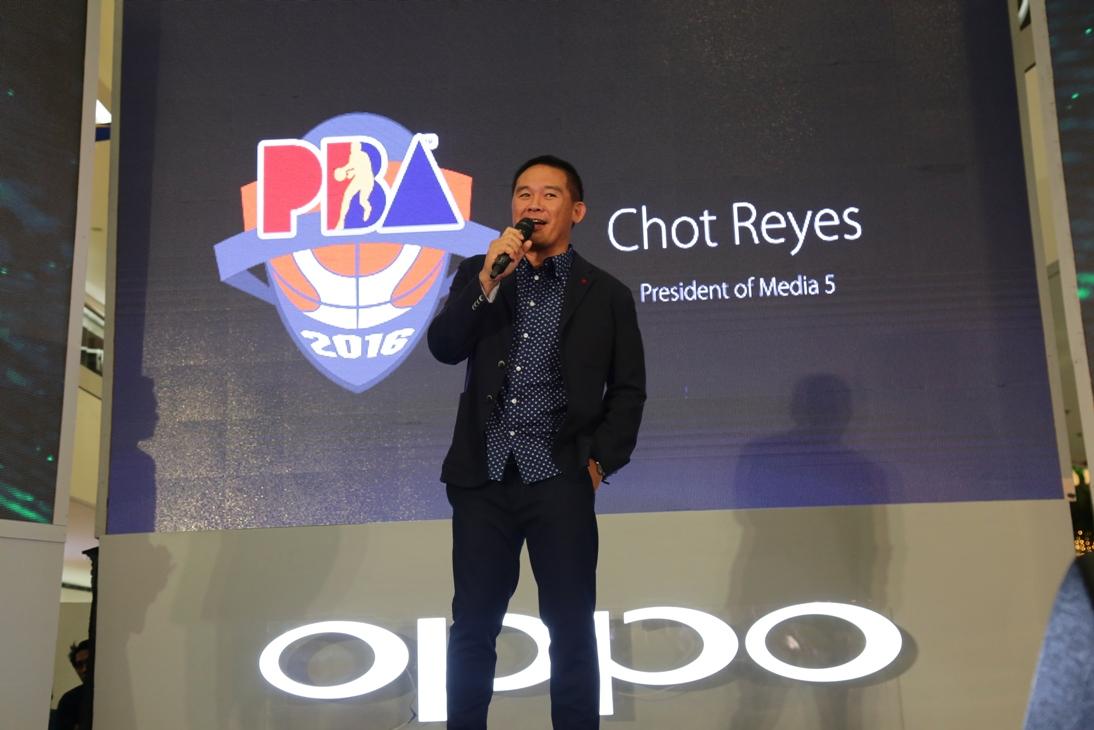 Chot Reyes OPPO partnership