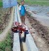 Guna Meningkatkan Kualitas Petani di Pangandaran, Kelompok P3A Mitra Cai Wargi Banyu Citonjong Bangun TPT Saluran Air