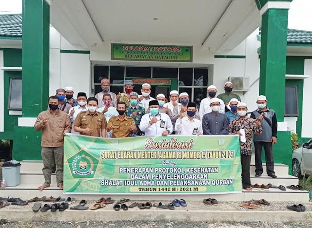 Pemerintah Kecamatan Bataguh Sosialisasikan Hasil Rakor Penanganan Covid-19 Kabupaten Kapuas