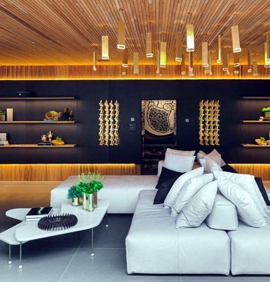 interior rumah minimalis modern pada ruang tamu