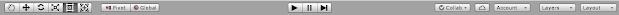 toolbar in unity editor