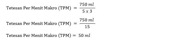 contoh menghitung tetesan infus makro