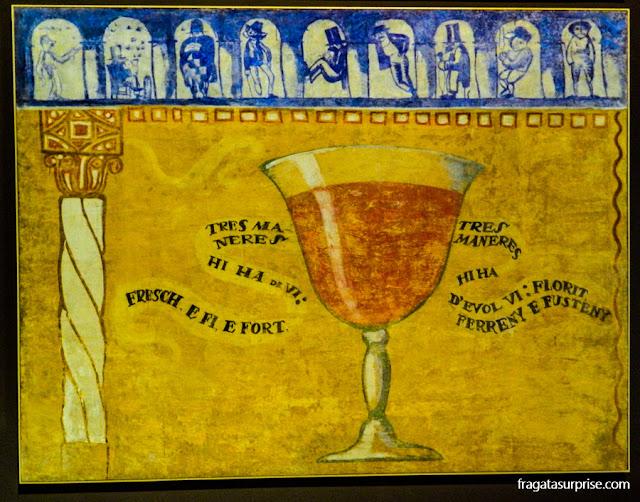 Detalhe da decoração das Galerias Laietanas no Museu Nacional de Arte da Catalunha, Barcelona