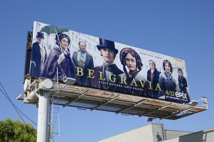 Belgravia series premiere billboard