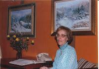 L'artiste Clémence St-Laurent  à Québec en 1986