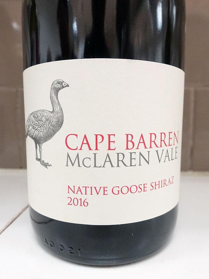 Cape Barren Native Goose Shiraz 2016 (90 pts)