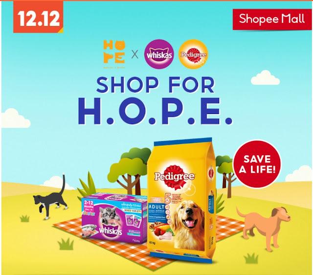 Shopee Malaysia Shop For  A Cause, Shop For H.O.P.E.