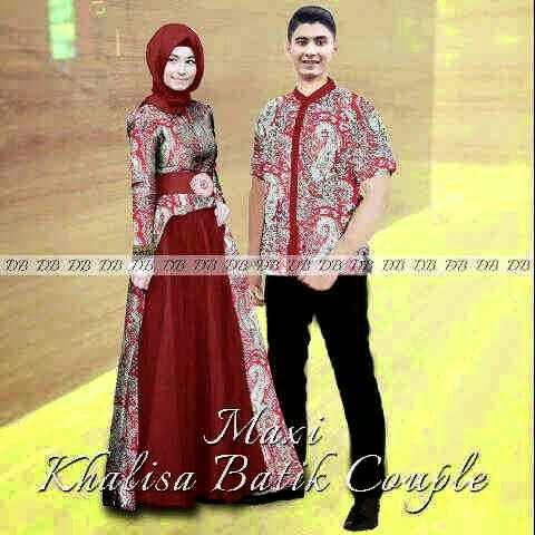 Baju Seragam Batik Sarimbit Model Gamis Baju Batik Modern Dan
