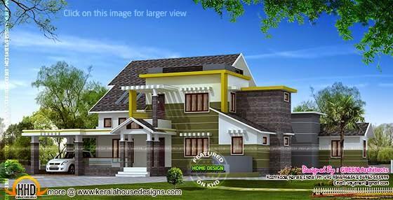 Modern home elevation