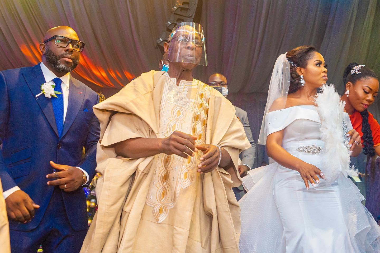 Photos ex-President Olusegun Obasanjo's son's wedding...
