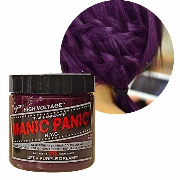 Blue purple and black hair