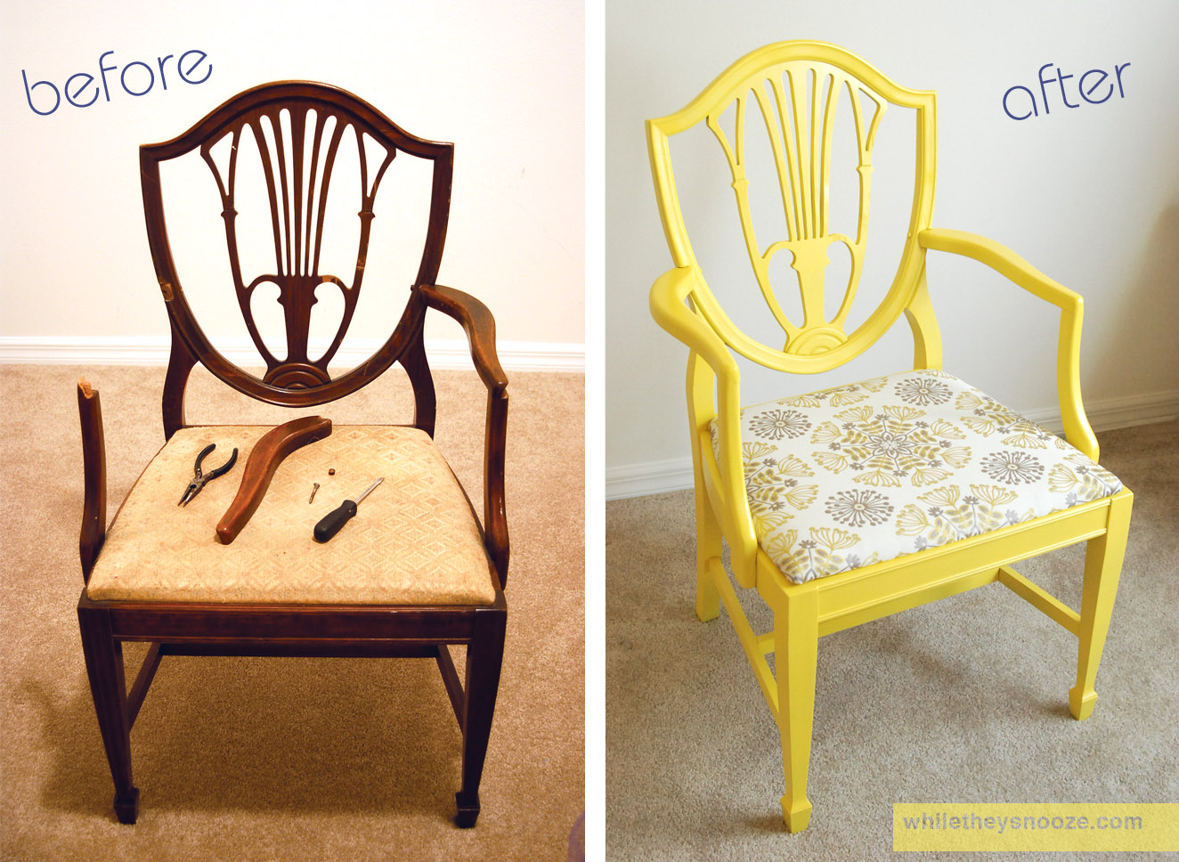 Diy Dining Chairs Makeover Chair Covers While They Snooze Side