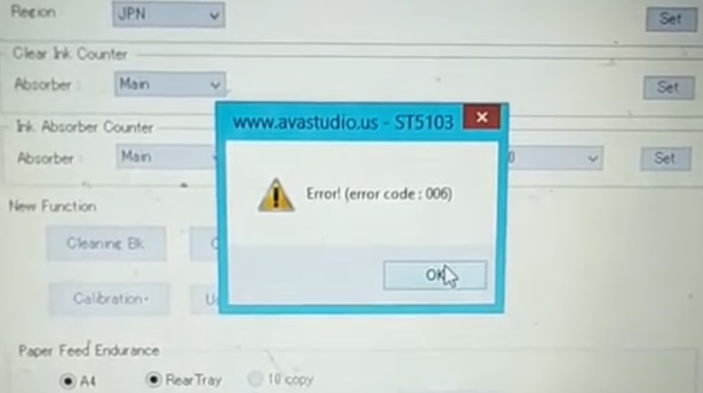 How to Resolve Error Code 006 When Resetting the Printer
