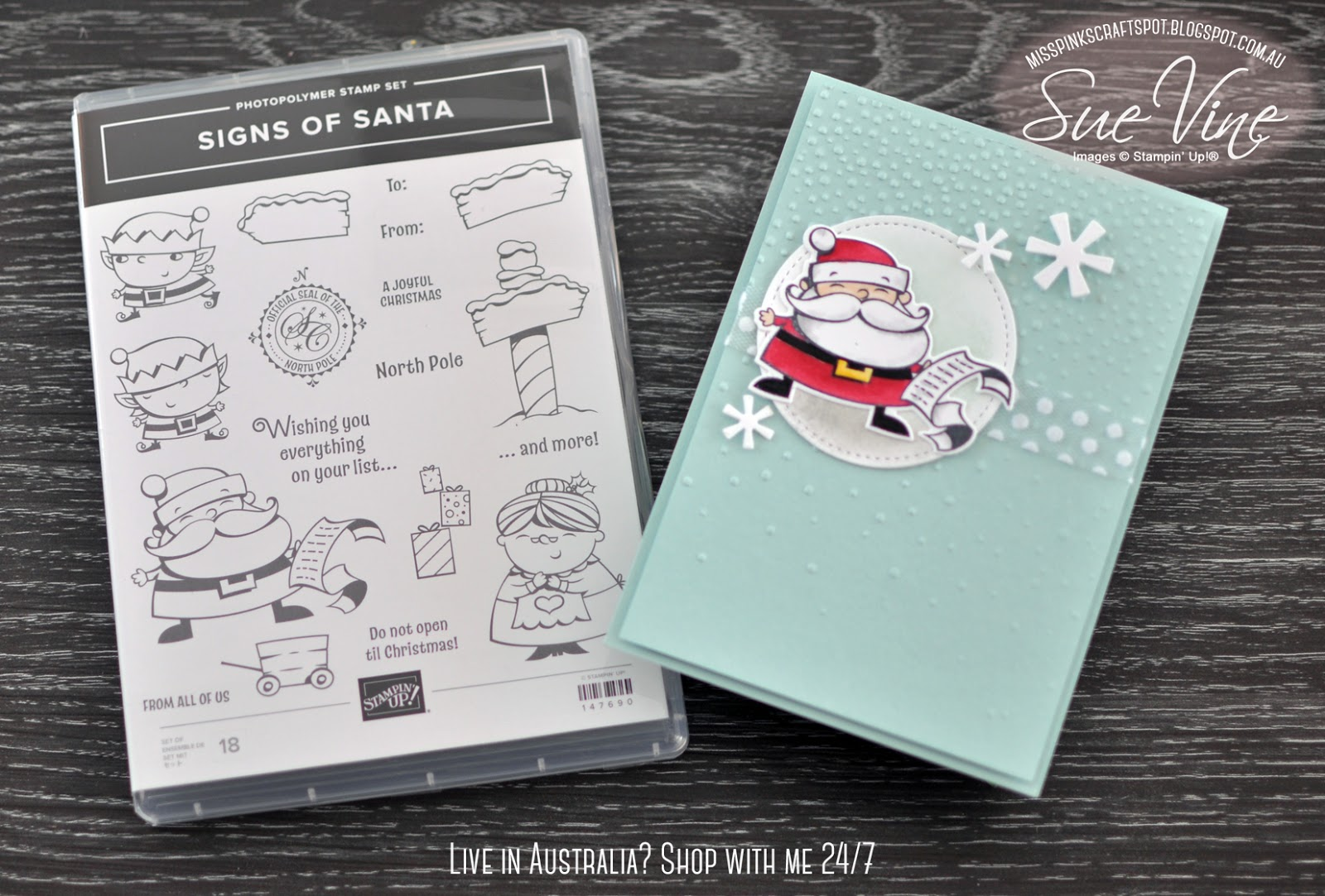 Miss Pinks Craft Spot: Signs of Santa Sneak Peek