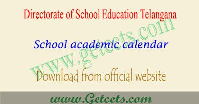 School academic calendar 2018-2019 Telangana , TS School academic calendar,dasara holidays,sankranti holidays telangana