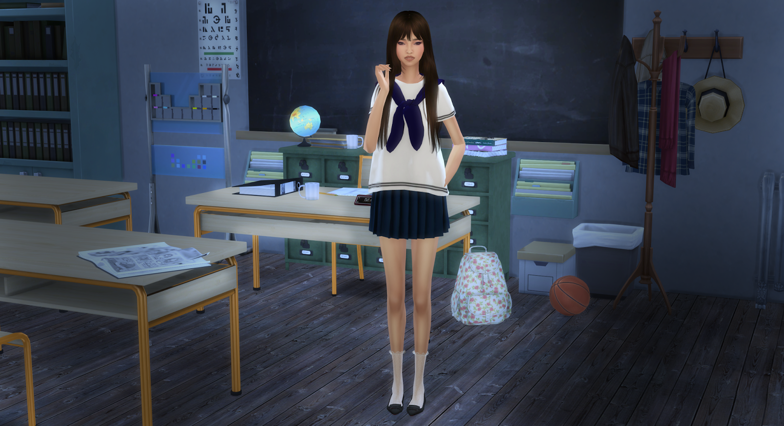 The Sims 4 Korean Girl ~ virtualpianosheetmusic blogspot