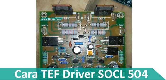 Cara Menambah TEF SOCL 504