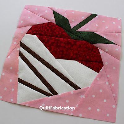 white chocolate dipped strawberry by QuiltFabrication