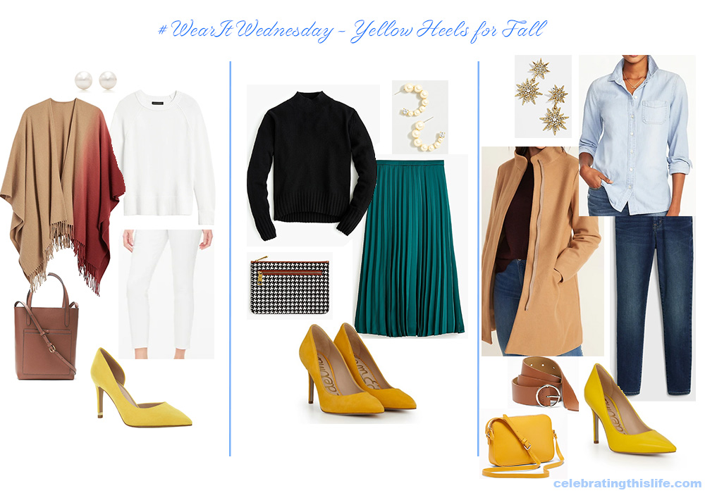 yellow heel outfits