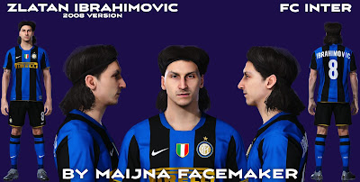 PES 2021 Faces Zlatan Ibrahimovic 2008 by Maijna