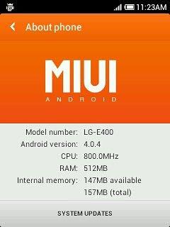 Cómo Instalar MIUI ROM en LG Optimus L3 E400