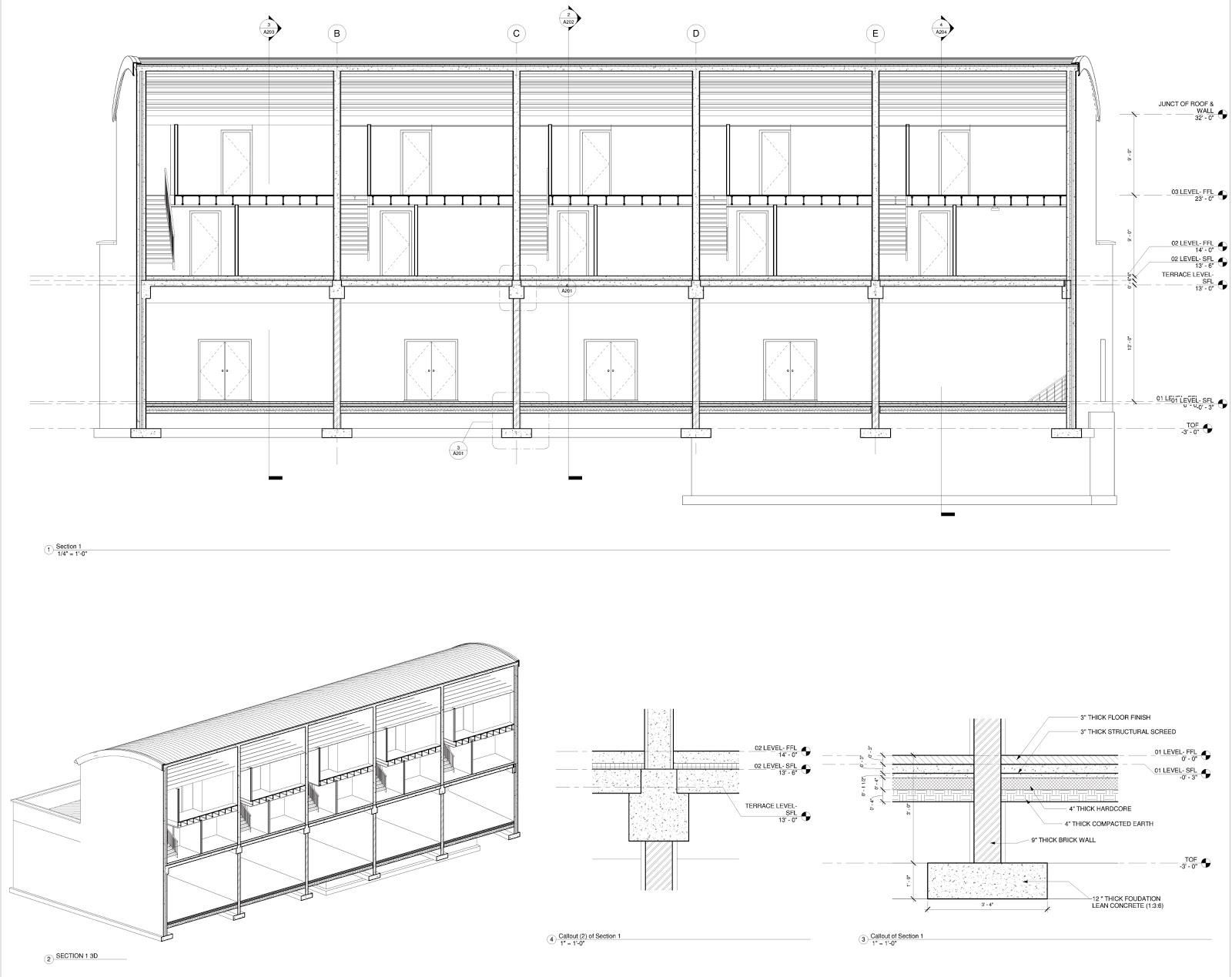 My Design Work: Revit detail practice project