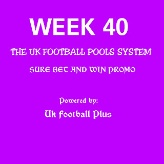 Week-40 UK football pool draws on coupon and details