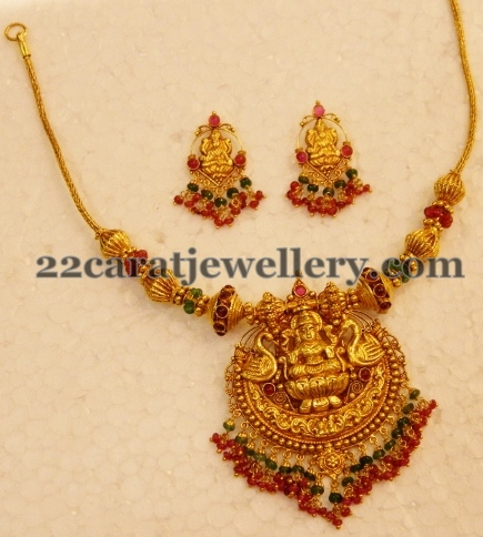 22ct Traditional Light Temple Necklace Jewellery Designs