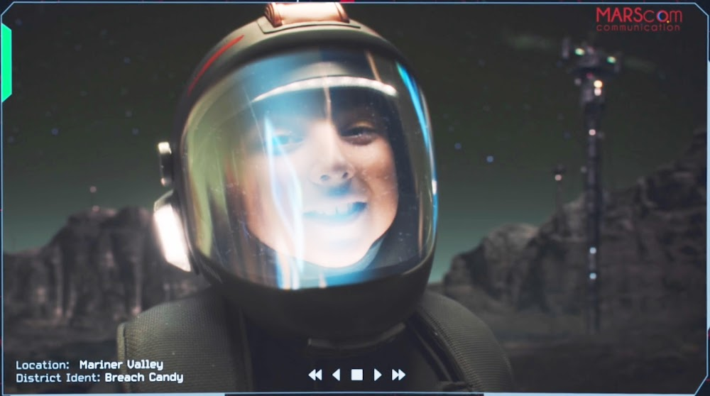 Boy on Mars messaging his dad - image from The Expanse TV series