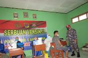 TNI-AL Gelar Serbuan Vaksin Di Cibadak Sukabumi