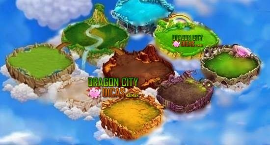 Novas Ilhas no Dragon City
