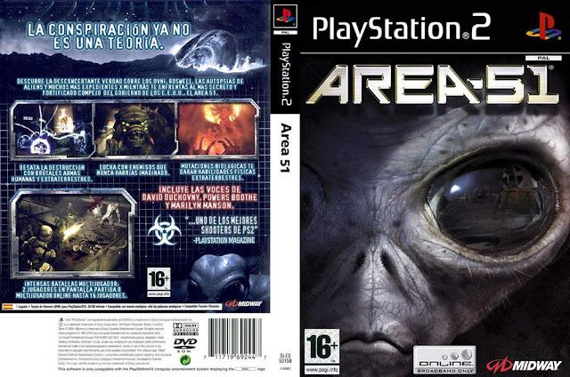 Descargar Area 51 ps2 iso NTSC-PAL. Es una ciencia ficción de acción en primera persona juego de video que se publicó en 2005 (2006 en Japón ) y fue desarrollado por Midway Estudios Austin y publicado por Midway para la PlayStation 2 , Xbox y Microsoft Windows , y es un flojo nueva versión del 1995 pistola de luz videojuego del mismo nombre , y fue seguido en 2007 por el vagamente relacionados BlackSite: El jugador controla a Ethan Cole, materiales peligrosos operativo enviado a la base de la zona 51 para ayudar en la limpieza de un virus mutagénico .