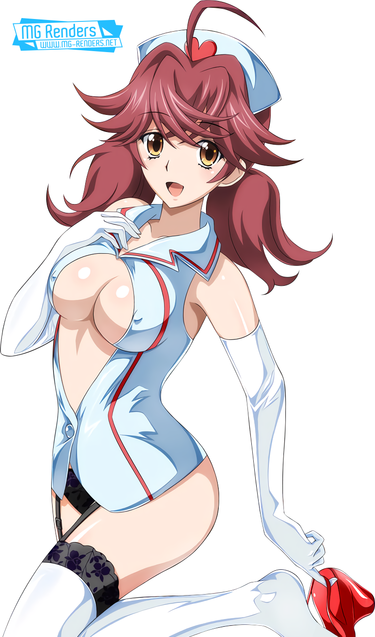 Tags: Anime, Render,  High School DxD, ハイスクールD×D, Haisukūru D×D,  Nurse,  Tomoe Meguri,  PNG, Image, Picture