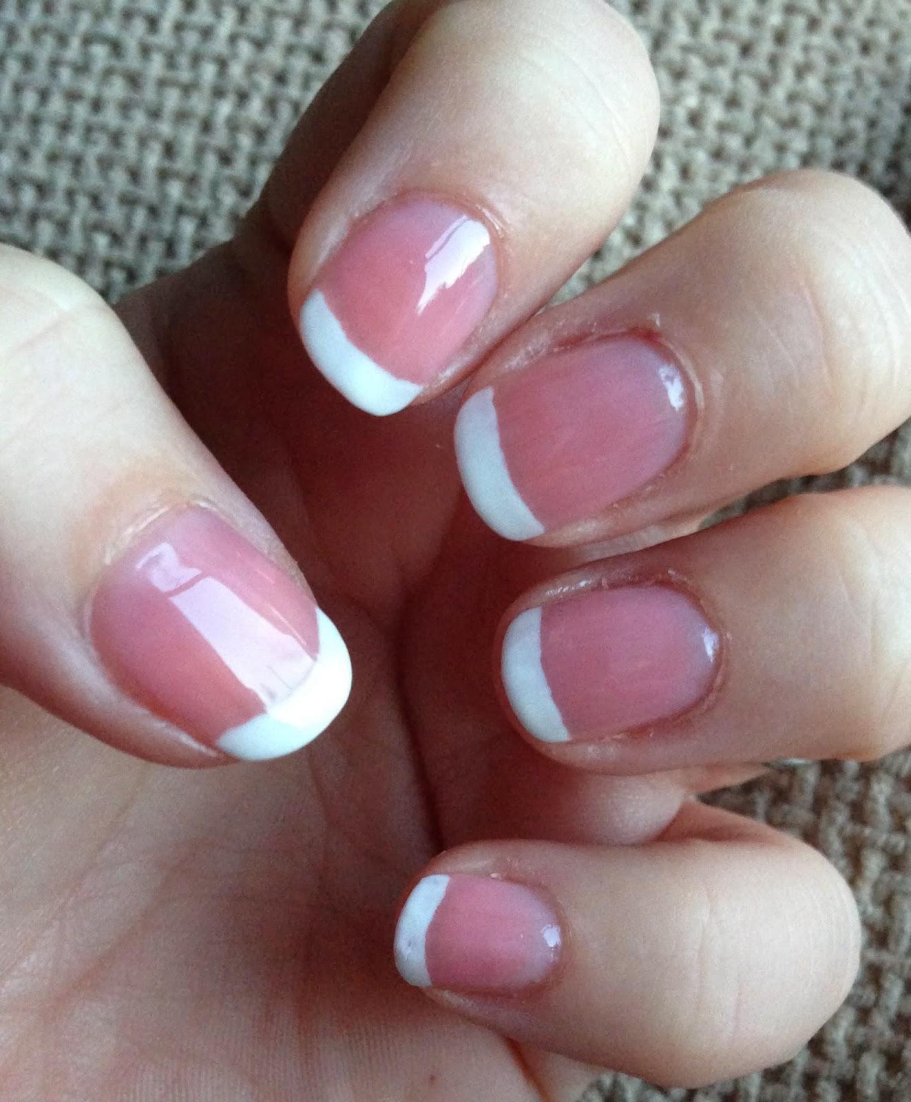 French Manicure Pink Polish – Papillon Day Spa