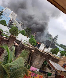 The country home of Hope Uzodimma is on fire