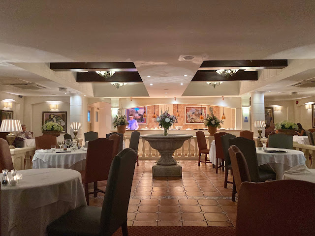 Inside the restaurant at Parkway Hotel and Spa Cwmbran, South Wales