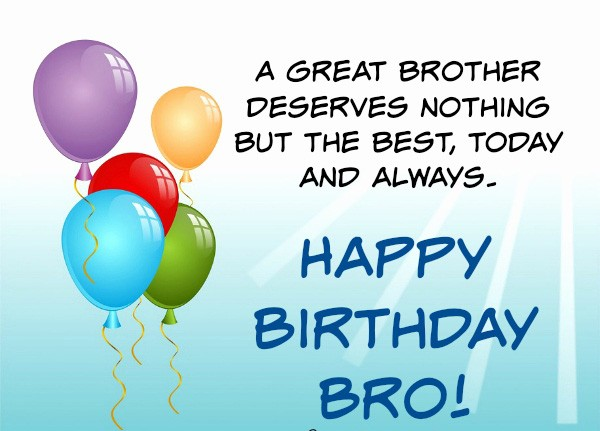 Advance Birthday Wishes For Brother Images