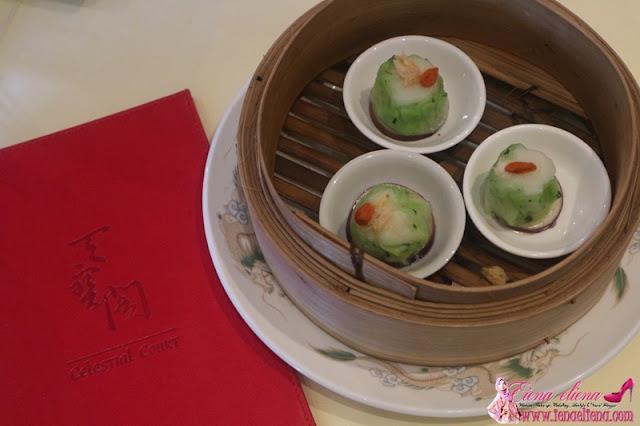Crystal Spinach Dumpling With Prawn n Scallop