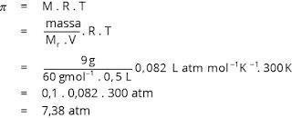 contoh soal menghitung tekanan osmotik larutan nonelektrolit