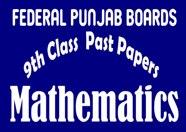 Past Papers Mathematics