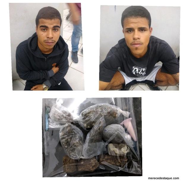 Dois elementos são detidos com drogas em Santa Cruz do Capibaribe