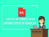 Contoh SK Tim Satgas Covid di Sekolah Lengkap dengan Tugas