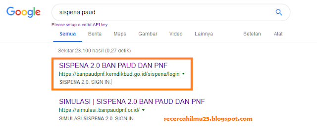 SISPENA 2.0 BAN PAUD dan PNF
