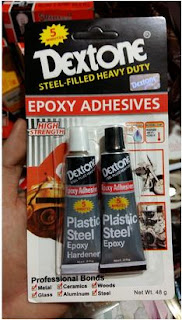 Steel glue is an expoxy adhesive